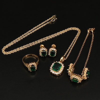 Bracelet, Necklace, Earrings and Ring Jewelry Set