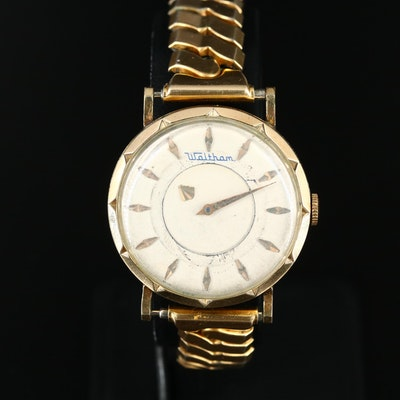 Vintage Waltham Mystery Dial 10K Rolled Gold Plate Stem Wind Wristwatch