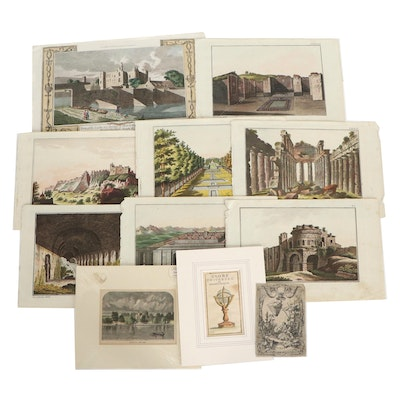 Architectural Engravings and More, 18th and 19th Centuries