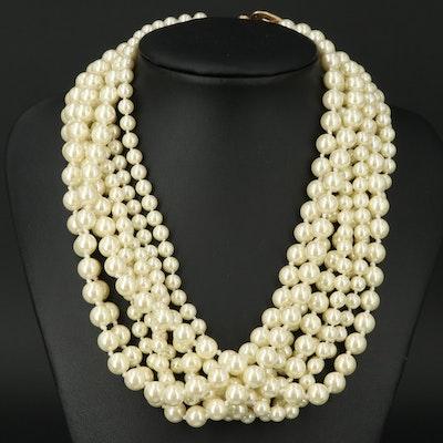 KJL by Kenneth Jay Lane Multi-Strand Faux Pearl Necklace