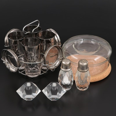 Mid Century Modern Glass with Coasters Set and Other Serveware