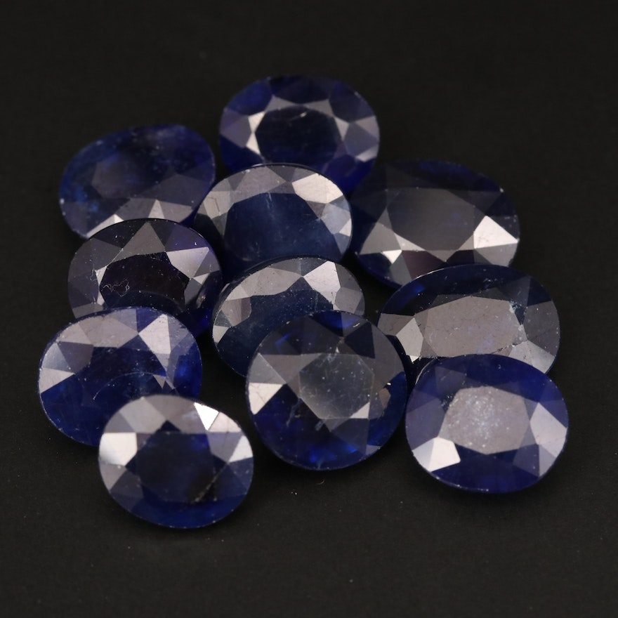 Loose Oval Faceted Corundums
