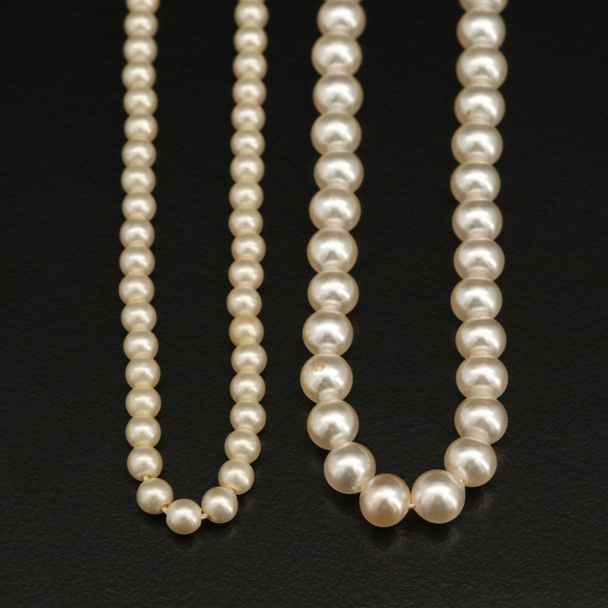 Vintage Faux Pearl Chokers