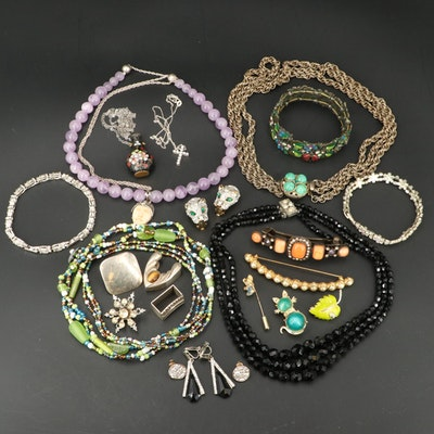 Jewelry Featuring Sterling Silver Necklaces and Gemstone Accents