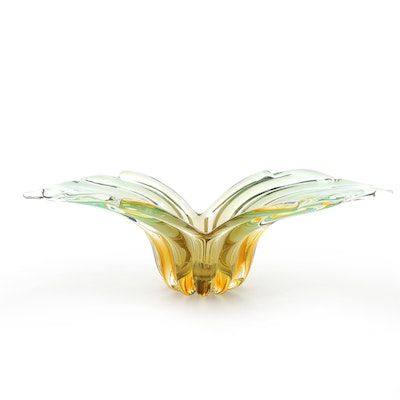 Mid Century Modern Murano Glass Winged Console Bowl, 1960's