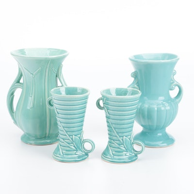 McCoy Glazed Ceramic Vases
