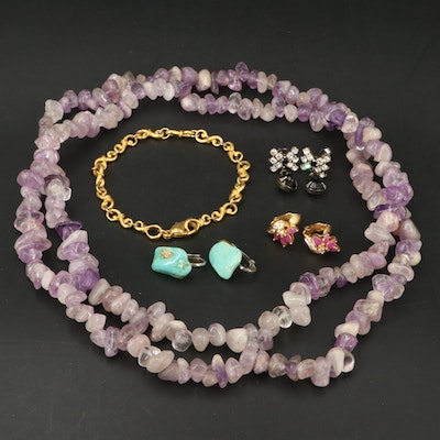 Jewelry Featuring Amethyst, Turquoise and Ruby