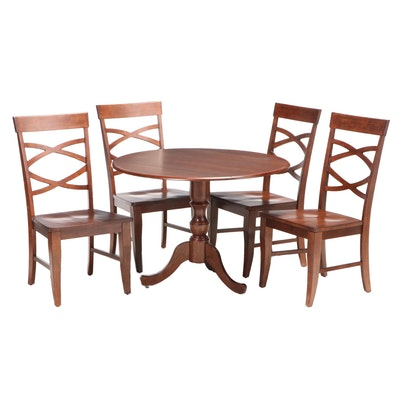 Five-Piece Accents Beyond Inc. Hardwood Dining Set