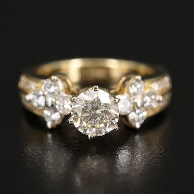14K 1.55 CTW Diamond Ring