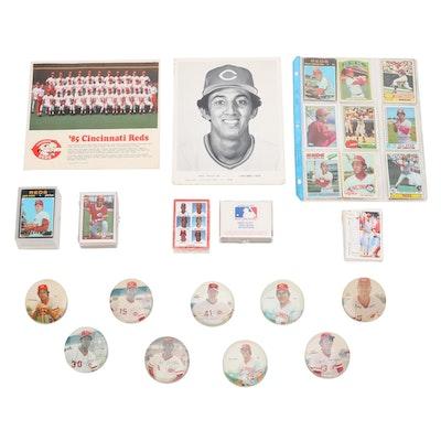 1970s-1980s Cincinnati Reds Player Pinbacks, Photo Prints, and Baseball Cards