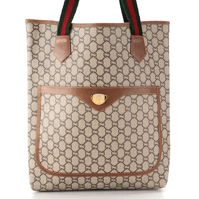Gucci Plus Tall Tote in Monogram GG Plus Canvas with Web Straps