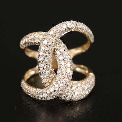 EFFY 14K 2.06 CTW Diamond Interlocking Ring