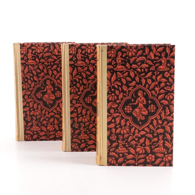 """Illustrated """"The Book of the Thousand Nights and a Night"""" Three-Volume Set, 1934"""