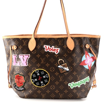 Louis Vuitton Limited Edition Neverfull MM in Monogram Capsule Hiver Patches