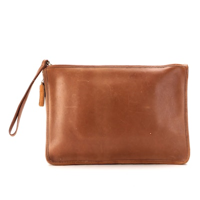 Coach Leatherware Glove Tanned Leather Wristlet Clutch, 1970s