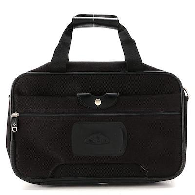 Samsonite Carry-On Shoulder Bag in Black Nylon and Leather