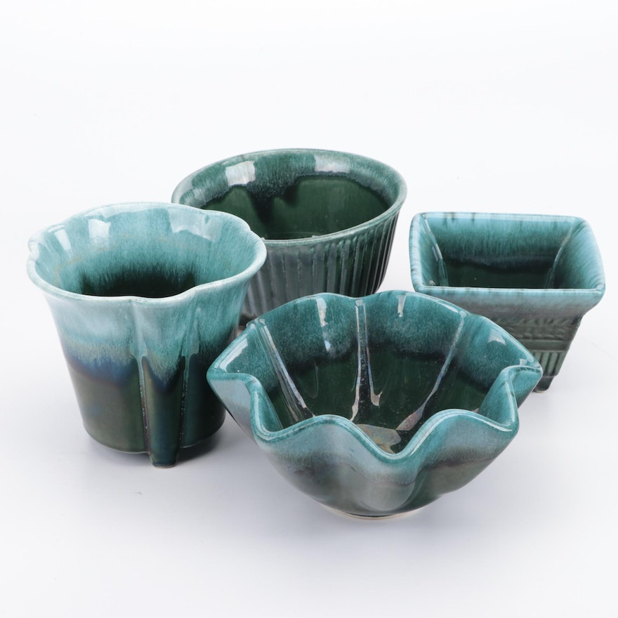 Hull Pottery Glazed Ceramic Planters, Mid to Late 20th Century