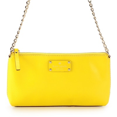 Kate Spade Bright Yellow Leather Shoulder Bag