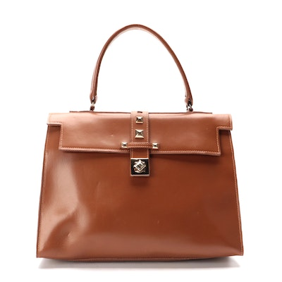 Russell & Bromley Italian Leather Studded Two-Way Satchel