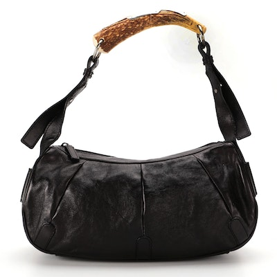 Yves Saint Laurent Rive Gauche Mombasa Bag in Leather with Deer Horn