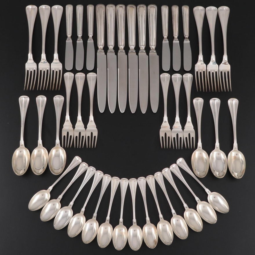 """Buccellati """"Milano"""" Sterling Silver Flatware Place Set for Six"""