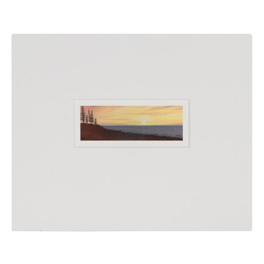 George Burr Giclée of Cliffside Sunset, 21st Century