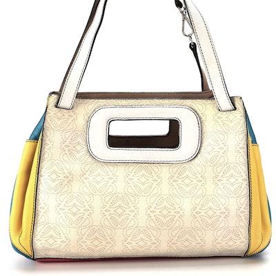 Loewe Anagram Kite Bag in Multicolor Calfskin Leather