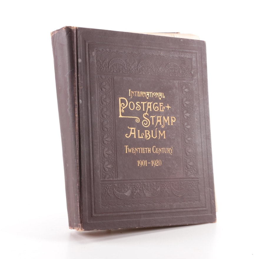 Stamps and 1901-1920 International Postage Stamp Album
