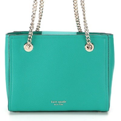 Kate Spade Amelia Small Tote in Turquoise Pebbled Leather