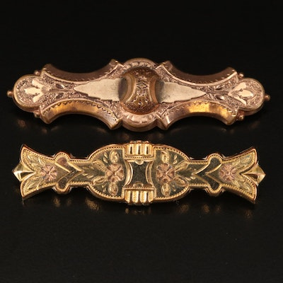 Early 1900s Finberg Manufacturing Co. Bar Brooches