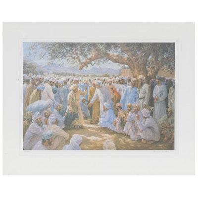 David Willis Offset Lithograph of Arabian Figures