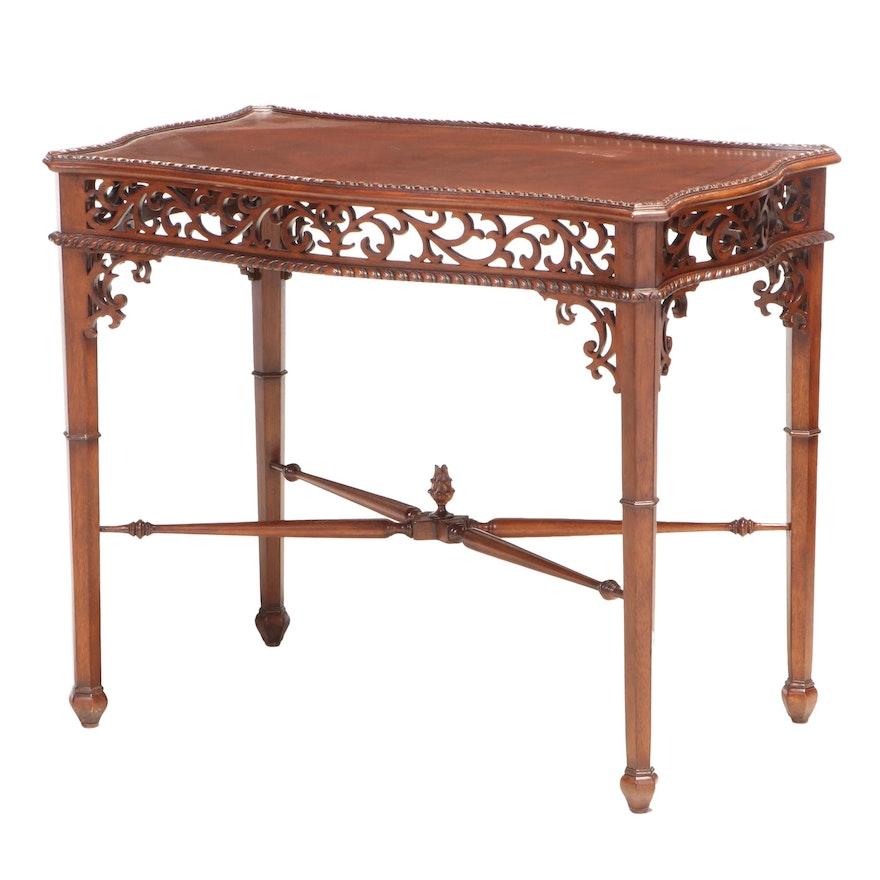 "Ethan Allen ""Gillian"" Chippendale Style Mahogany Tea Table"
