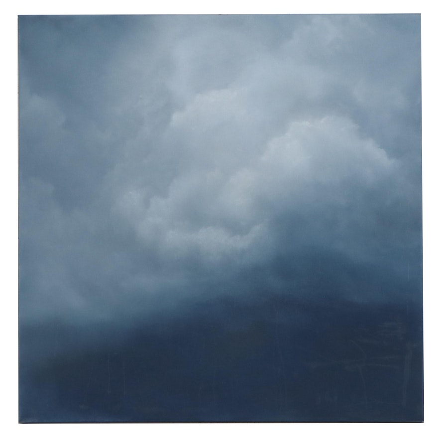 """Sarah Brown Oil Painting """"Cloudscapes V,"""" 21st Century"""