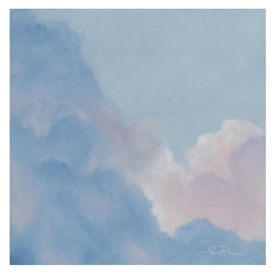 "Sarah Brown Cloudscape Oil Painting ""Sweet Dreams"""