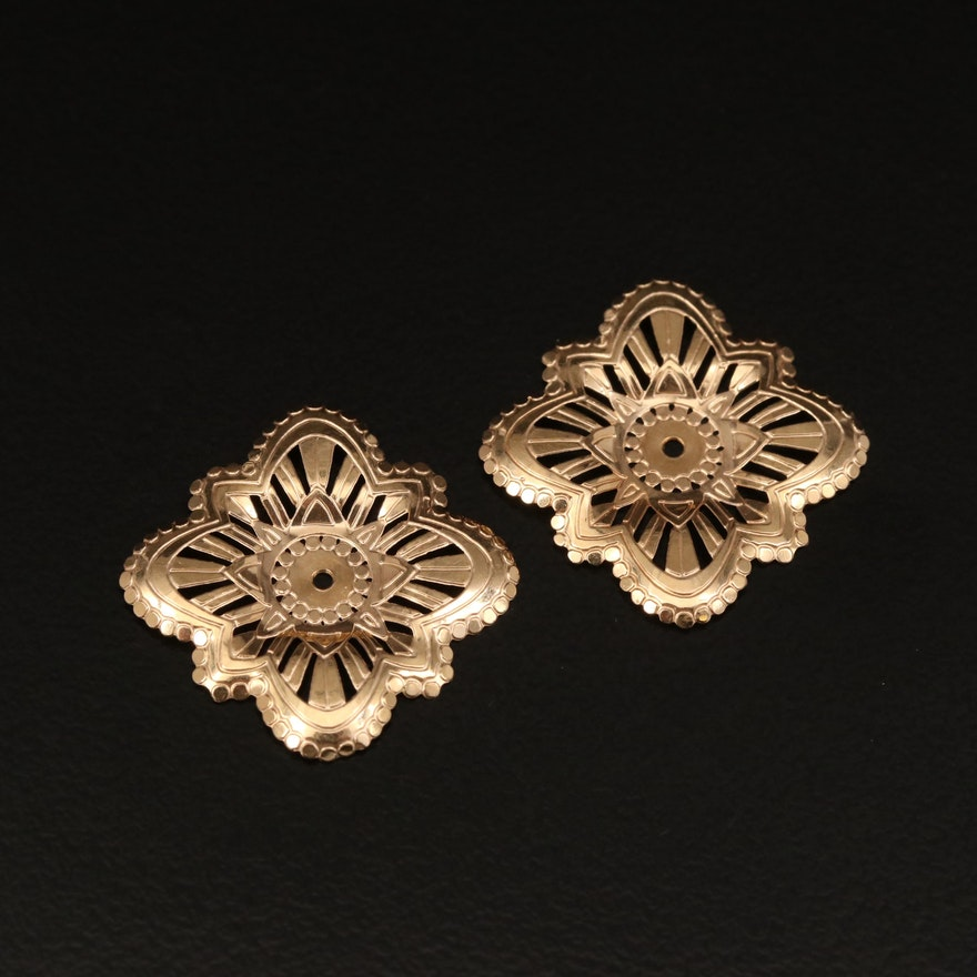 14K Stud Earring Jackets