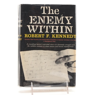 """Signed First Edition """"The Enemy Within"""" by Robert Kennedy, COA"""