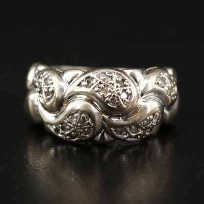 14K Diamond Paisley Ring
