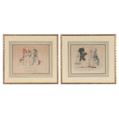 """Pierre La Mésangère Hand-Colored Engravings From """"Le Bon Genre"""""""