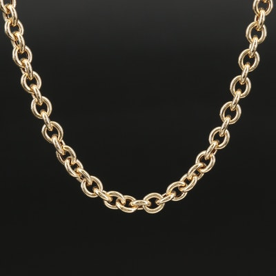 Italian 14K Cable Link Chain Necklace