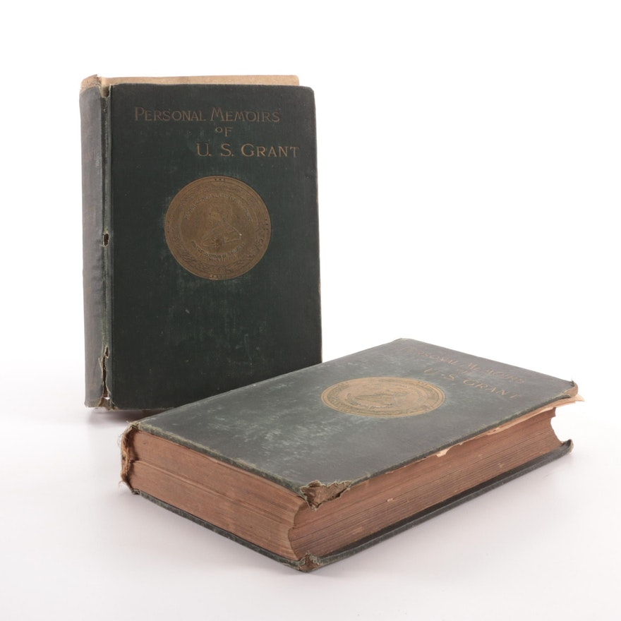"""First Edition """"Personal Memoirs of U. S. Grant"""" Two-Volume Set, 1885–1886"""