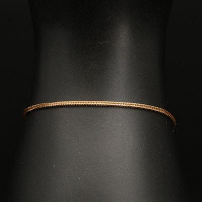 Italian 14K Foxtail Chain Bracelet