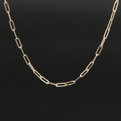 EFFY 14K Paper Clip Chain Necklace