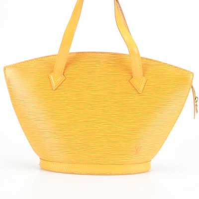Louis Vuitton Saint Jacques PM in Tassil Yellow Epi and Smooth Leather