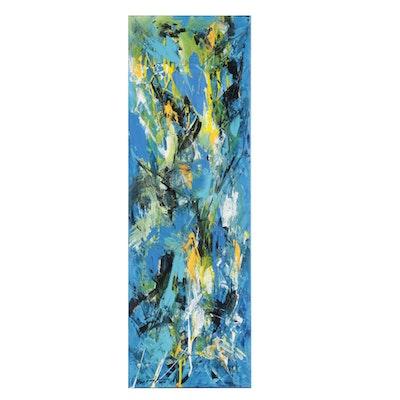Farshad Lanjani Abstract Expressionist Acrylic Painting, 2021