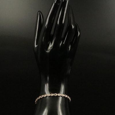 10K 1.45 CTW Diamond Line Bracelet