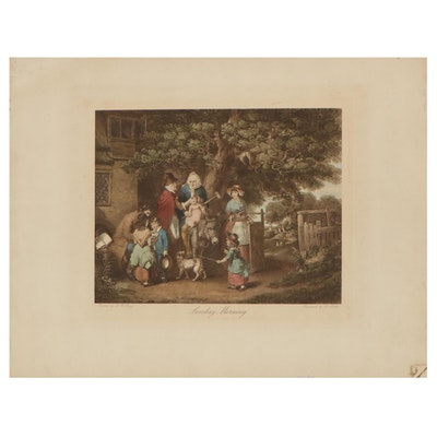 """W. Mutter Engraving After William Redmore Bigg """"Sunday Morning"""""""