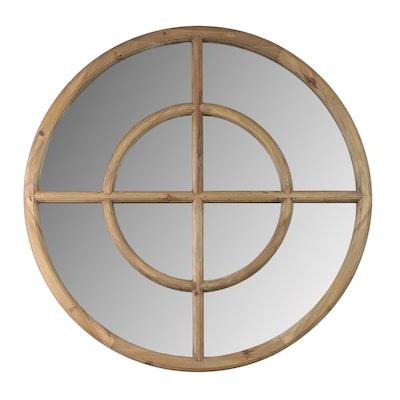 Uttermost Circular Wooden Wall Mirror