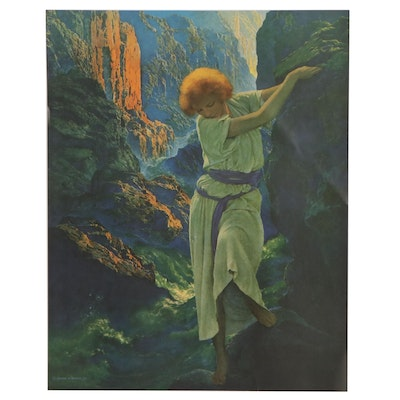 """Offset Lithograph After Maxfield Parrish """"The Canyon,"""" Late 20th Century"""