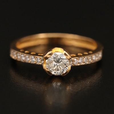 22K Diamond Ring with GIA Diamond Dossier