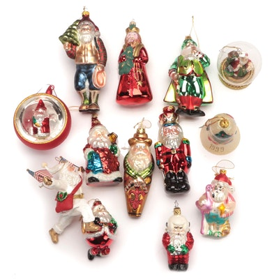 German, and  Other Glass and Plastic Christmas Ornaments